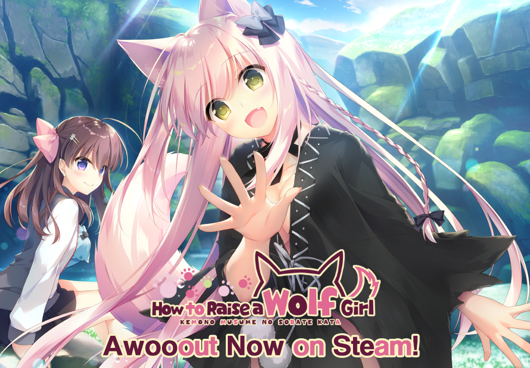"""Featured image for """"How to Raise a Wolf Girl Awooout Now on Steam!"""""""